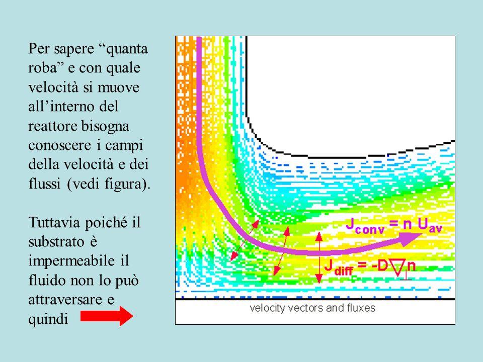 Il flusso convettivo è la quantità di materia (energia) trasportata attraverso una superficie nellunità di tempo. Flusso = Concentrazione * Velocità