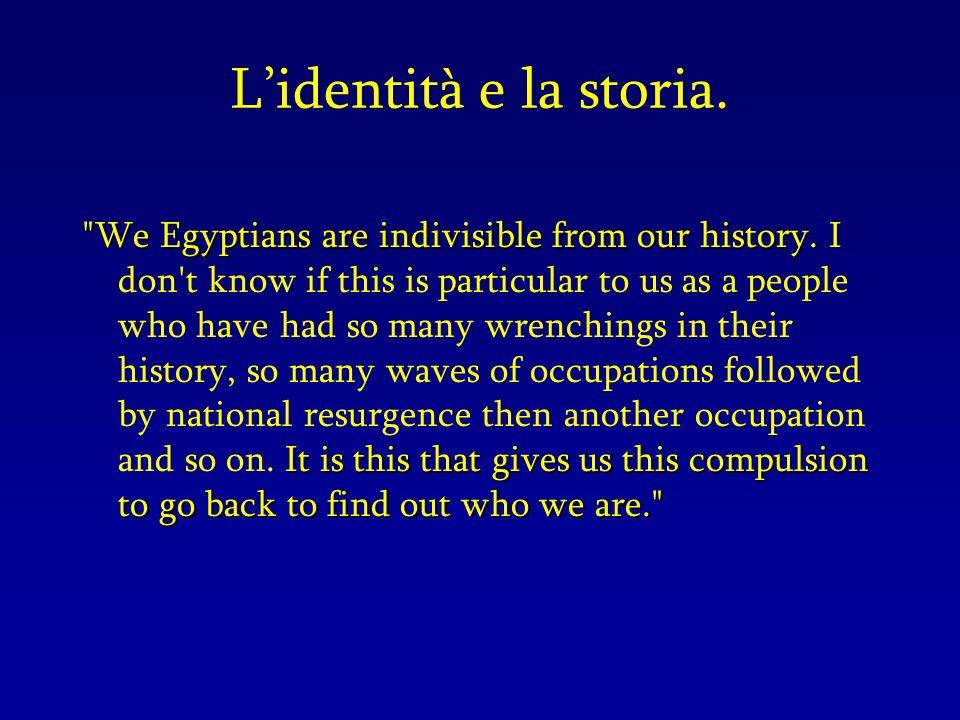 Lidentità e la storia.