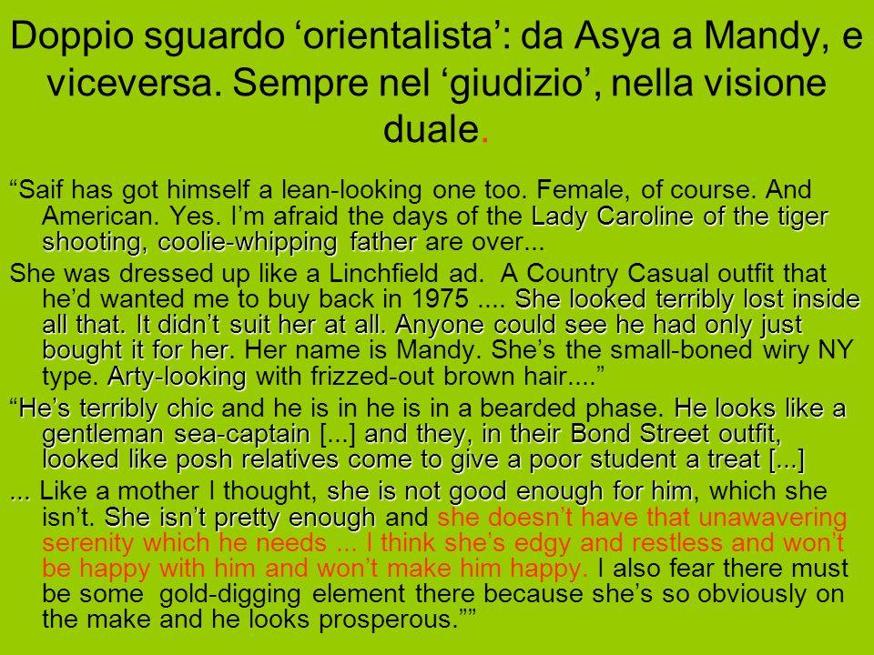 Doppio sguardo orientalista: da Asya a Mandy, e viceversa.