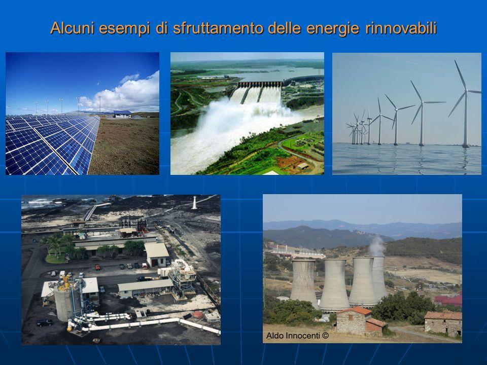 Alcuni esempi di sfruttamento delle energie rinnovabili