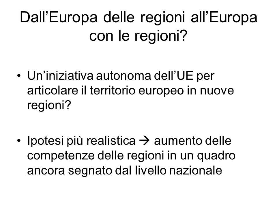 DallEuropa delle regioni allEuropa con le regioni? Uniniziativa autonoma dellUE per articolare il territorio europeo in nuove regioni? Ipotesi più rea