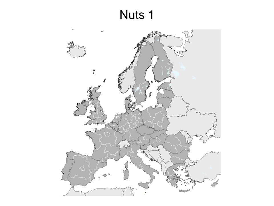 Tra la regione formale e quella funzionale, il modello Nuts propende verso la prima Nuts 1, Nuts 2, Nuts 3 esempi di regione formale (base amministrativa) E laspetto delle relazioni orizzontali, delle relazioni spaziali legate a certe funzioni?