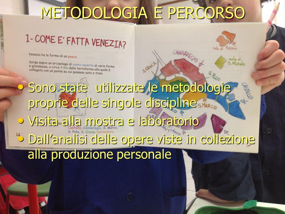 METODOLOGIA E PERCORSO Sono state utilizzate le metodologie proprie delle singole discipline Sono state utilizzate le metodologie proprie delle singol