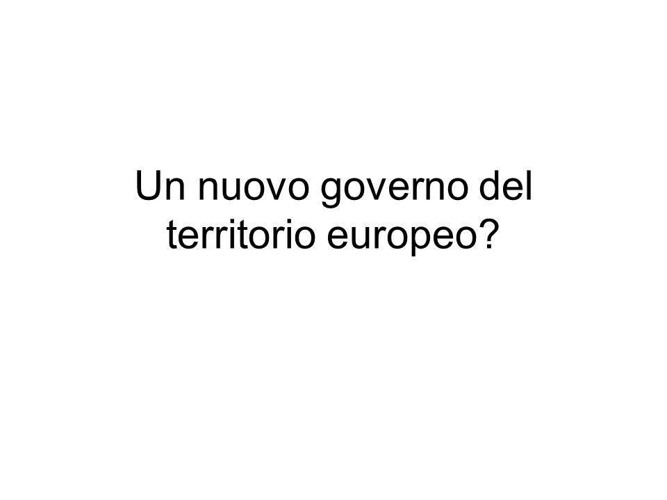 Un nuovo governo del territorio europeo?