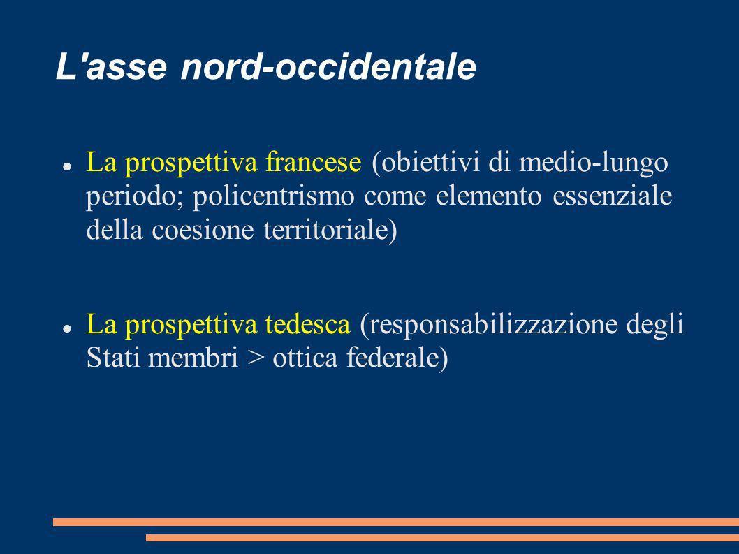 L'asse nord-occidentale La prospettiva francese (obiettivi di medio-lungo periodo; policentrismo come elemento essenziale della coesione territoriale)