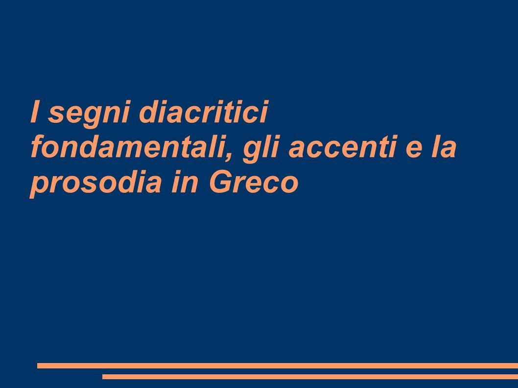 Classificazione delle parole in base all accento Le parole, in base al loro accento, si classificano in questo modo: Accento acuto/grave sull ultima sillaba: OSSITONA (es.: καλς / καλς ) Accento acuto sulla penultima sillaba: PAROSSITONA (es.: levgw ) Accento acuto sulla terzultima sillaba: PROPAROSSITONA (es.: νθρωπος ) Accento circonflesso sull ultima sillaba: PERISPOMENA (es.: σαφς) Accento circonflesso sulla penultima sillaba: PROPERISPOMENA (es.: sw ma )