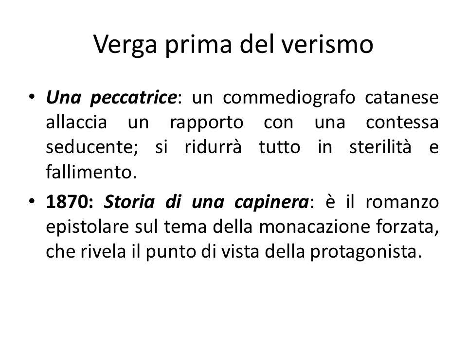 Una peccatrice: un commediografo catanese allaccia un rapporto con una contessa seducente; si ridurrà tutto in sterilità e fallimento. 1870: Storia di
