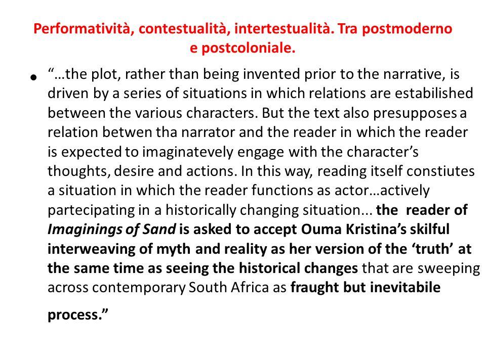 Performatività, contestualità, intertestualità. Tra postmoderno e postcoloniale.