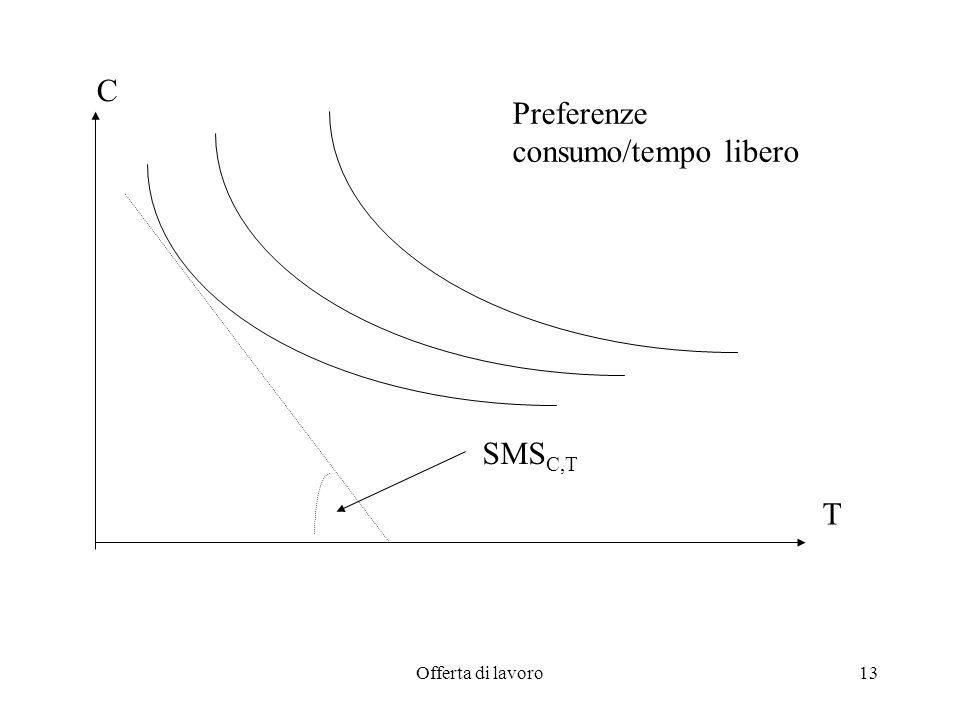 Offerta di lavoro13 C T Preferenze consumo/tempo libero SMS C,T