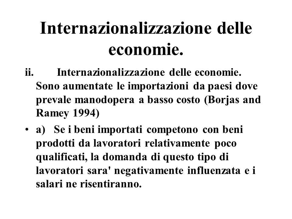 Internazionalizzazione delle economie. ii. Internazionalizzazione delle economie.