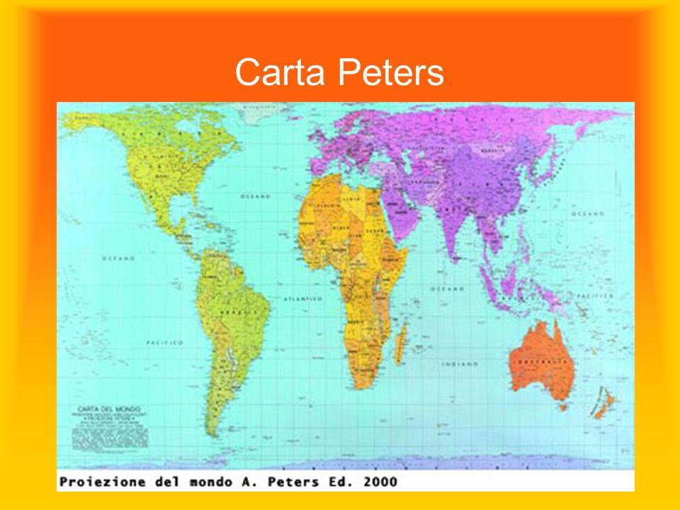 La mappa non è il territorio, ma una creazione, una scelta politica Carta Peters