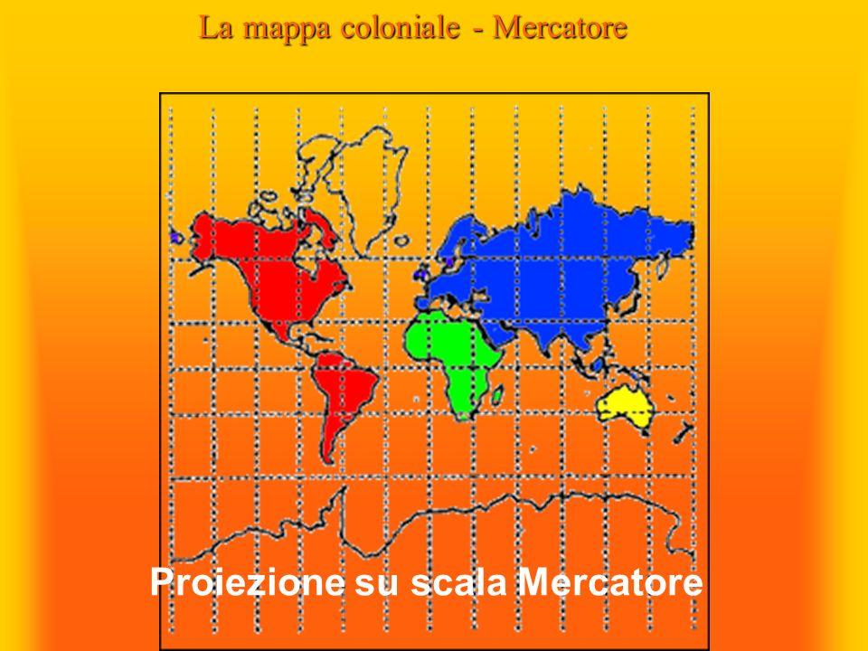 Proiezione su scala Mercatore La mappa coloniale - Mercatore