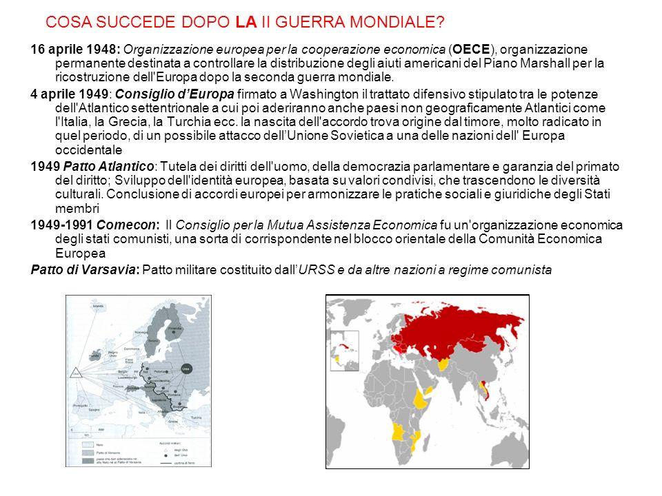 16 aprile 1948: Organizzazione europea per la cooperazione economica (OECE), organizzazione permanente destinata a controllare la distribuzione degli aiuti americani del Piano Marshall per la ricostruzione dell Europa dopo la seconda guerra mondiale.