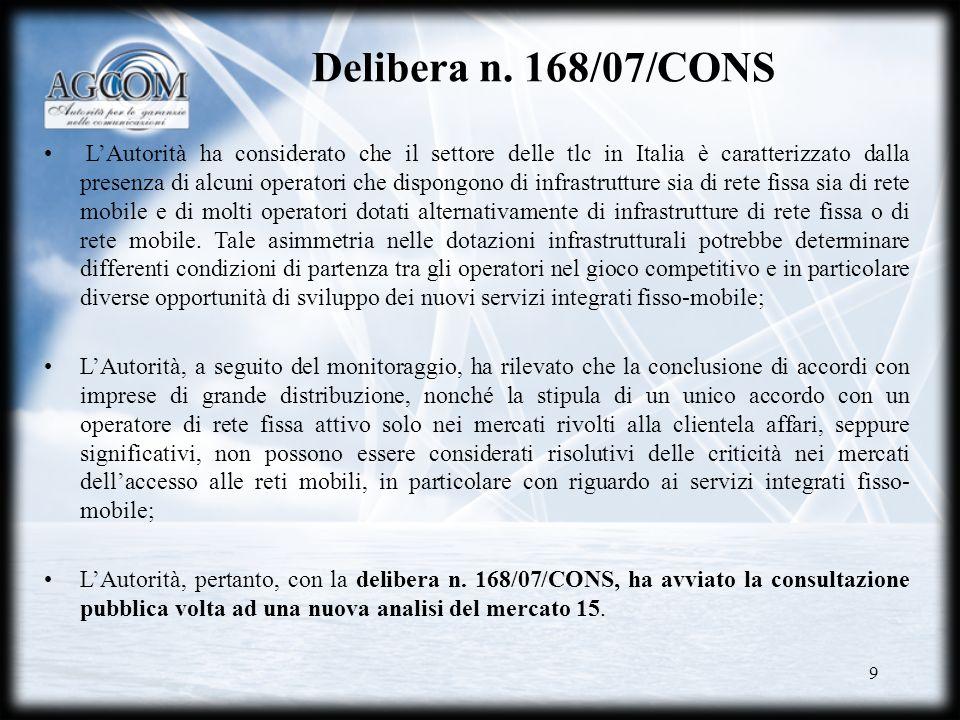 10 Delibera 415/07/CONS Vodafone e TI hanno recentemente proposto un servizio di comunicazione vocale di natura integrata, rispettivamente Vodafone Casa Numero Fisso e Unico.