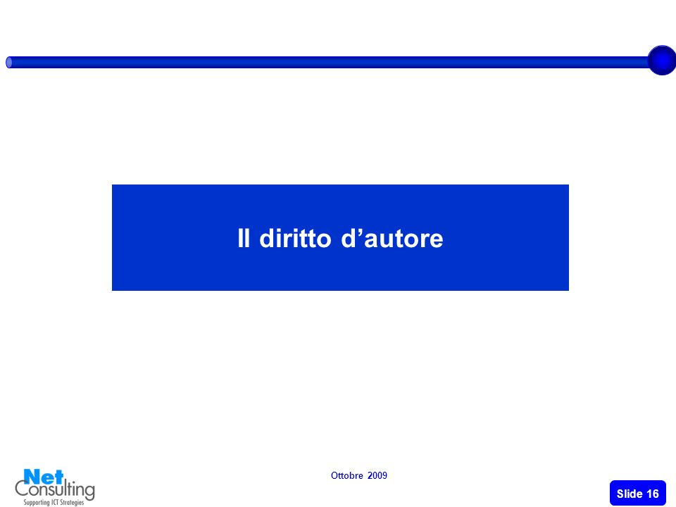 Ottobre 2009 Slide 15 Tipologie di soluzioni di e-payments TipologiaDescrizione Tipo pagamentoFattori di sviluppo MicroMacro Remote payment Include un