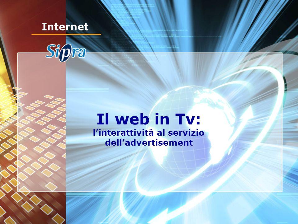 Il web in Tv: linterattività al servizio delladvertisement Internet