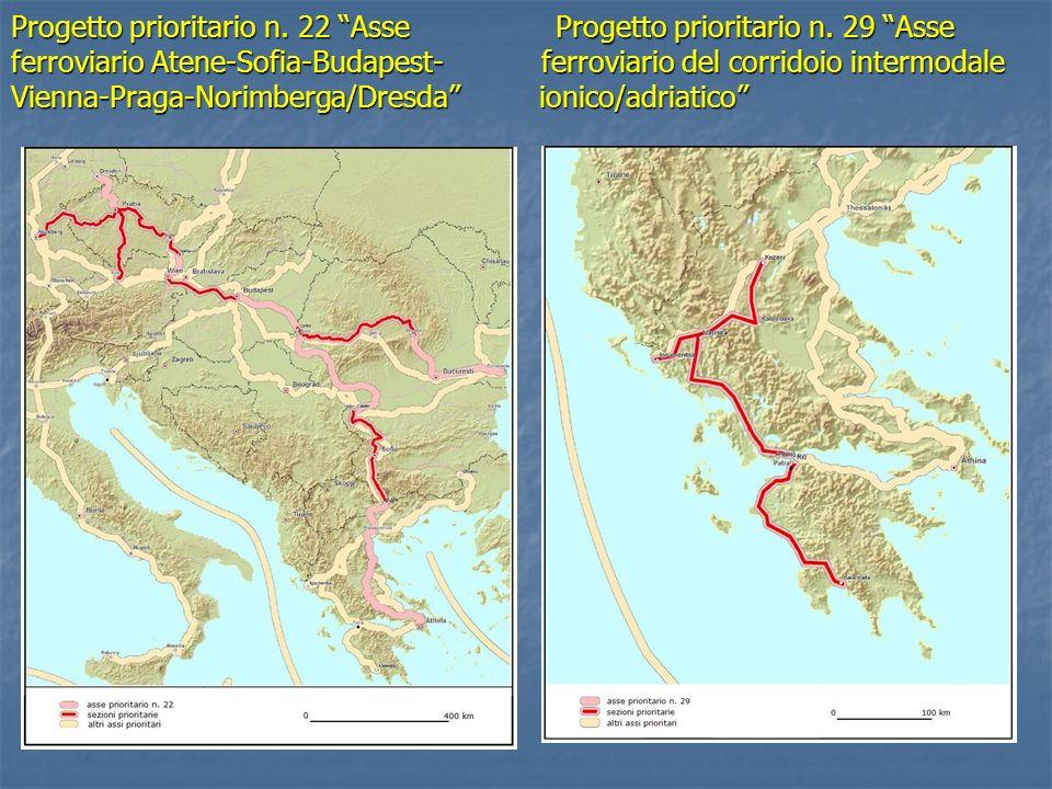 Progetto prioritario n. 22 Asse Progetto prioritario n. 29 Asse ferroviario Atene-Sofia-Budapest- ferroviario del corridoio intermodale Vienna-Praga-N