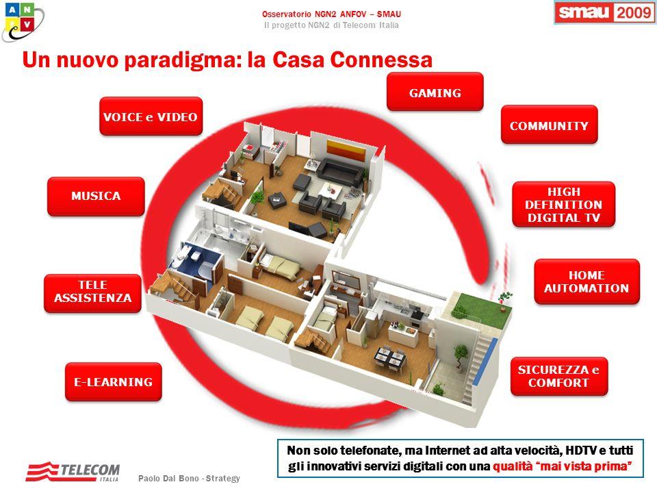Osservatorio NGN2 ANFOV – SMAU Il progetto NGN2 di Telecom Italia Paolo Dal Bono - Strategy 3 Non solo telefonate, ma Internet ad alta velocità, HDTV