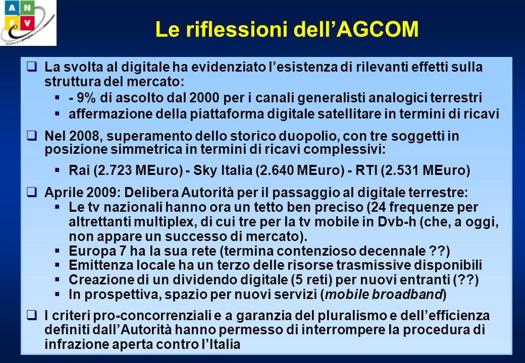 Il modello italiano di transizione Cresce, in Italia, il numero delle piattaforme e dei decoder.