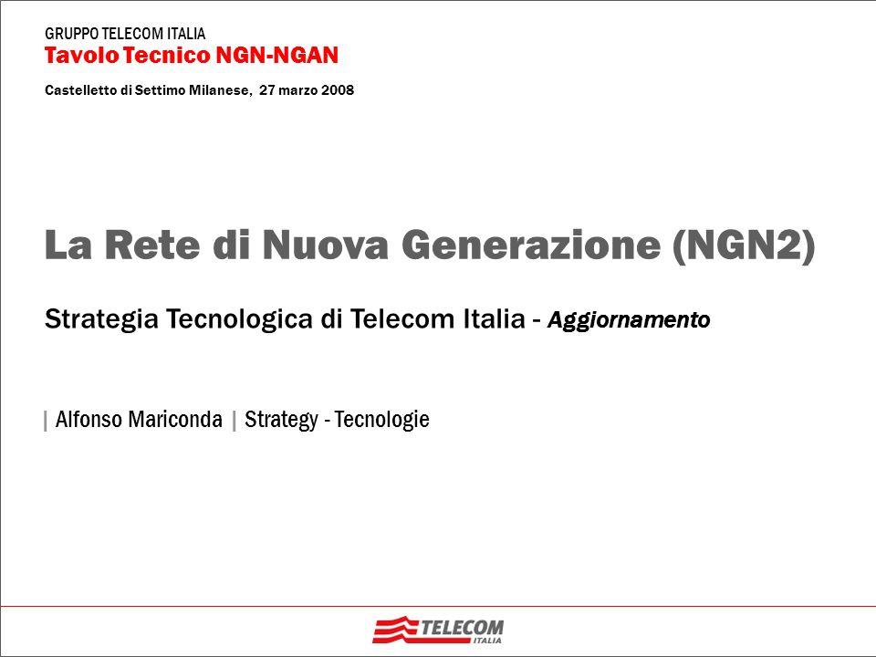 GRUPPO TELECOM ITALIA Tavolo Tecnico NGN-NGAN Castelletto di Settimo Milanese, 27 marzo 2008 | Alfonso Mariconda | Strategy - Tecnologie Strategia Tec