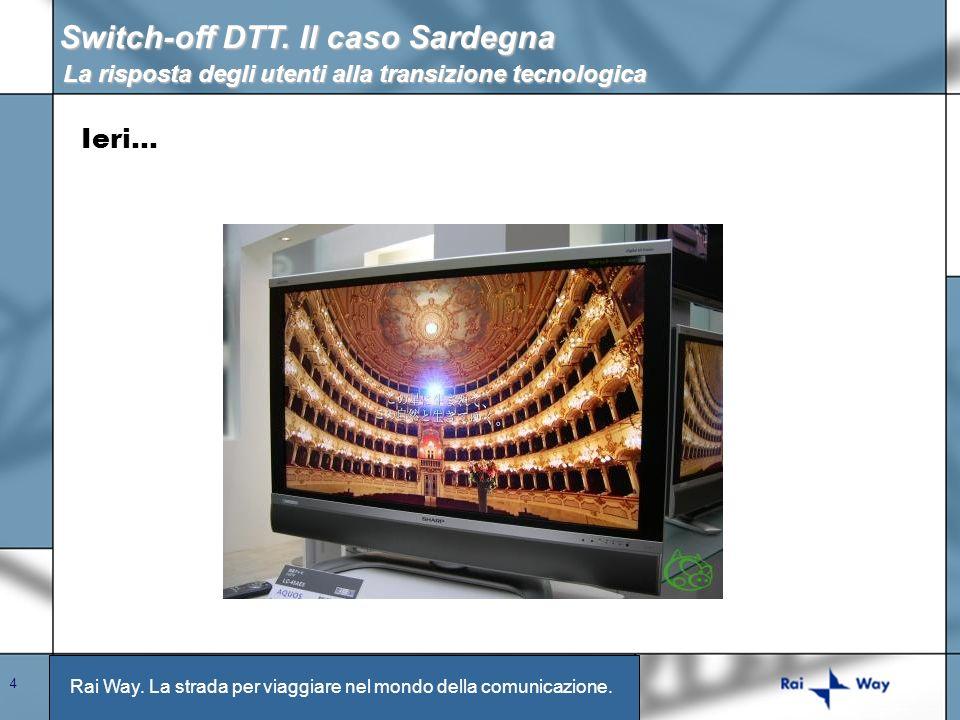 Rai Way. La strada per viaggiare nel mondo della comunicazione. 4 Switch-off DTT. Il caso Sardegna La risposta degli utenti alla transizione tecnologi