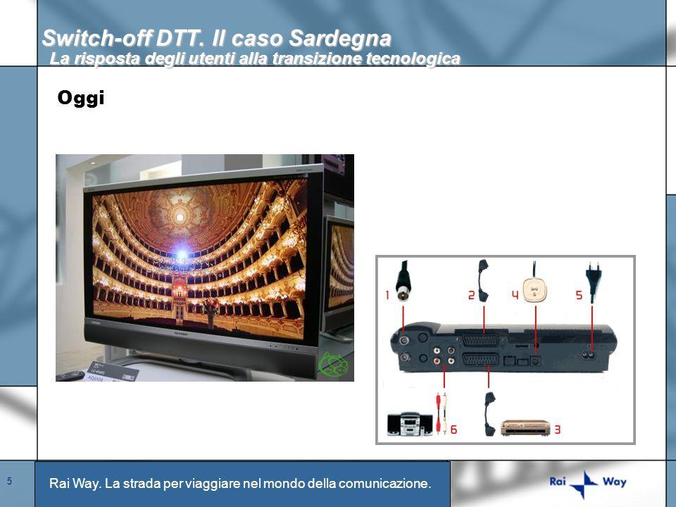 Rai Way. La strada per viaggiare nel mondo della comunicazione. 5 Switch-off DTT. Il caso Sardegna La risposta degli utenti alla transizione tecnologi