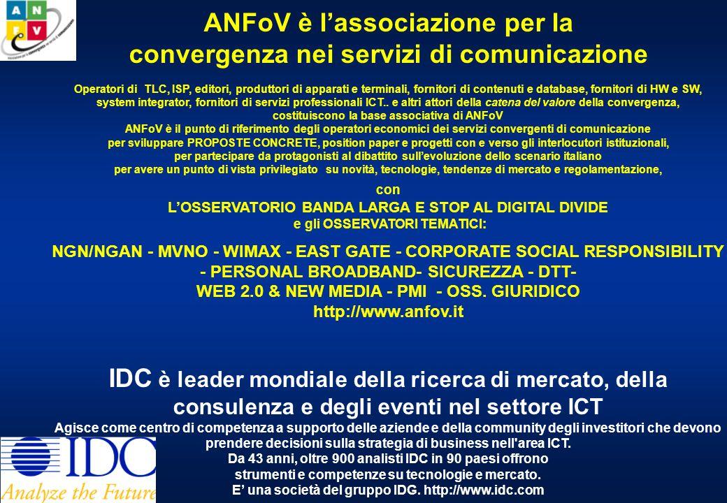 InnovAction 2008 Udine, 16 febbraio 2008 La domanda di ICT in Italia: luci, ombre e prospettive di evoluzione Daniela Rao Vice Presidente ANFoV TLC Research Director IDC Italia