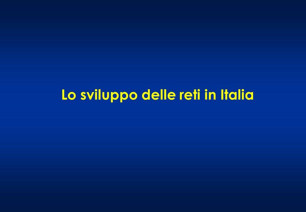 Lo sviluppo delle reti in Italia