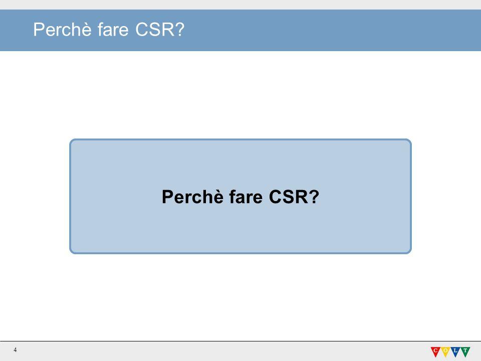 Perchè fare CSR? 4