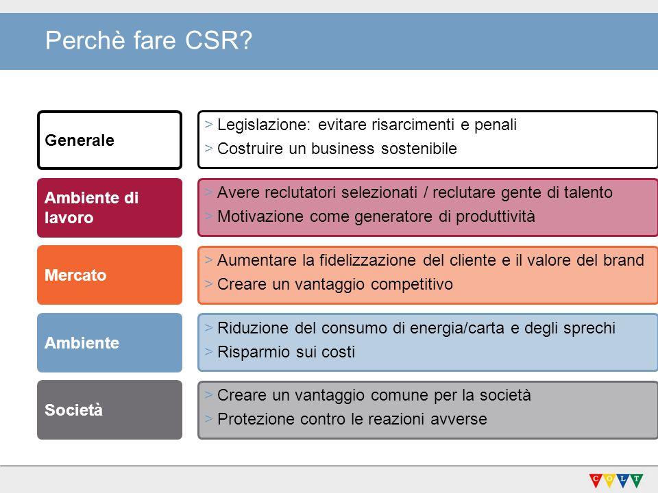 Perchè CSR.
