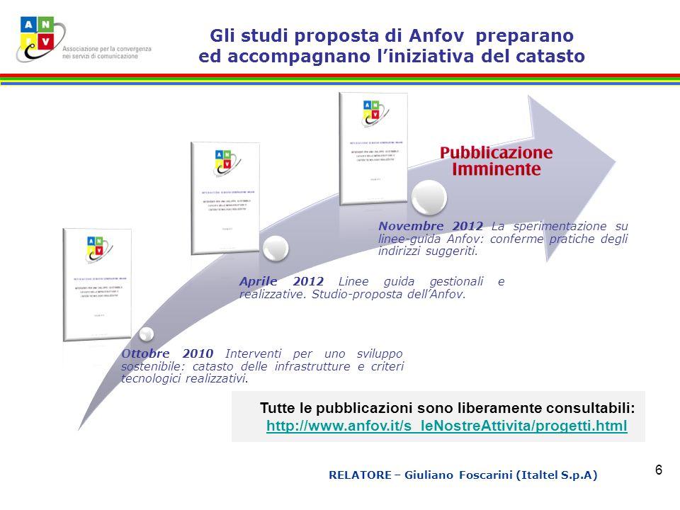 Ottobre 2010 Interventi per uno sviluppo sostenibile: catasto delle infrastrutture e criteri tecnologici realizzativi.
