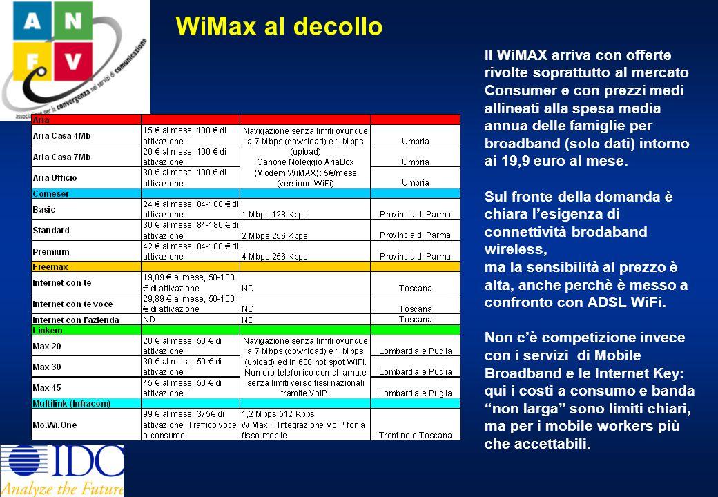Il bacino della domanda di BWA 6 milioni di italiani vivono in famiglie dove cè Internet broadband, tutti i componenti hanno almeno un telefono cellulare e cè la TV satellitare.