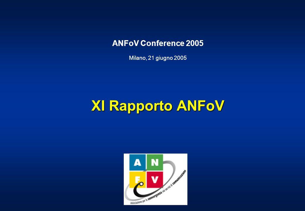 ANFoV Conference 2005 Milano, 21 giugno 2005 XI Rapporto ANFoV