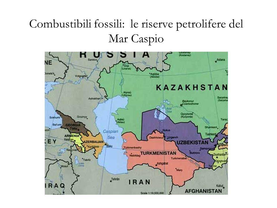 Combustibili fossili: le riserve petrolifere del Mar Caspio