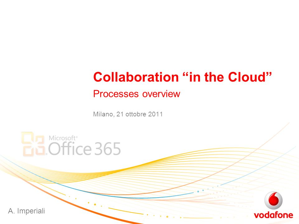 Collaboration in the Cloud Processes overview Milano, 21 ottobre 2011 A. Imperiali