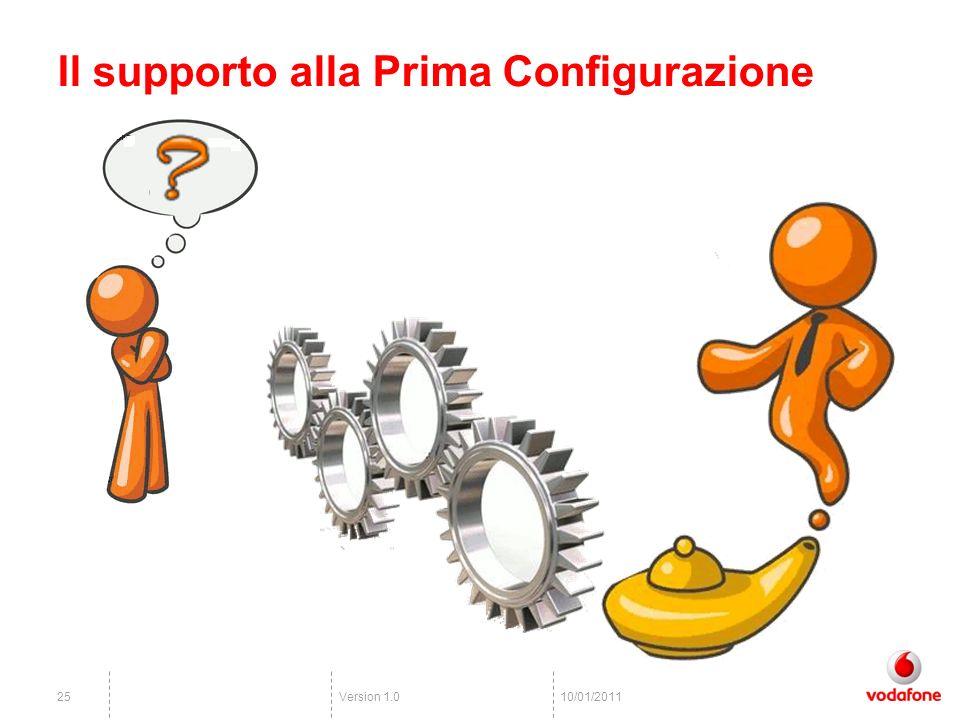 Version 1.02510/01/2011 Il supporto alla Prima Configurazione