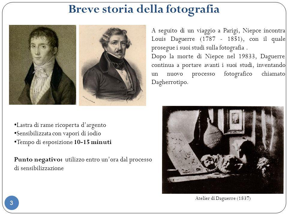 Breve storia della fotografia Frederick Scott Archer Nello stesso tempo, linventore inglese Frederick Scott Archer (1813 – 1857) fu il primo ad usare lastre di vetro come supporto fotografico, mettendo a punto il suo metodo del collodio umido.