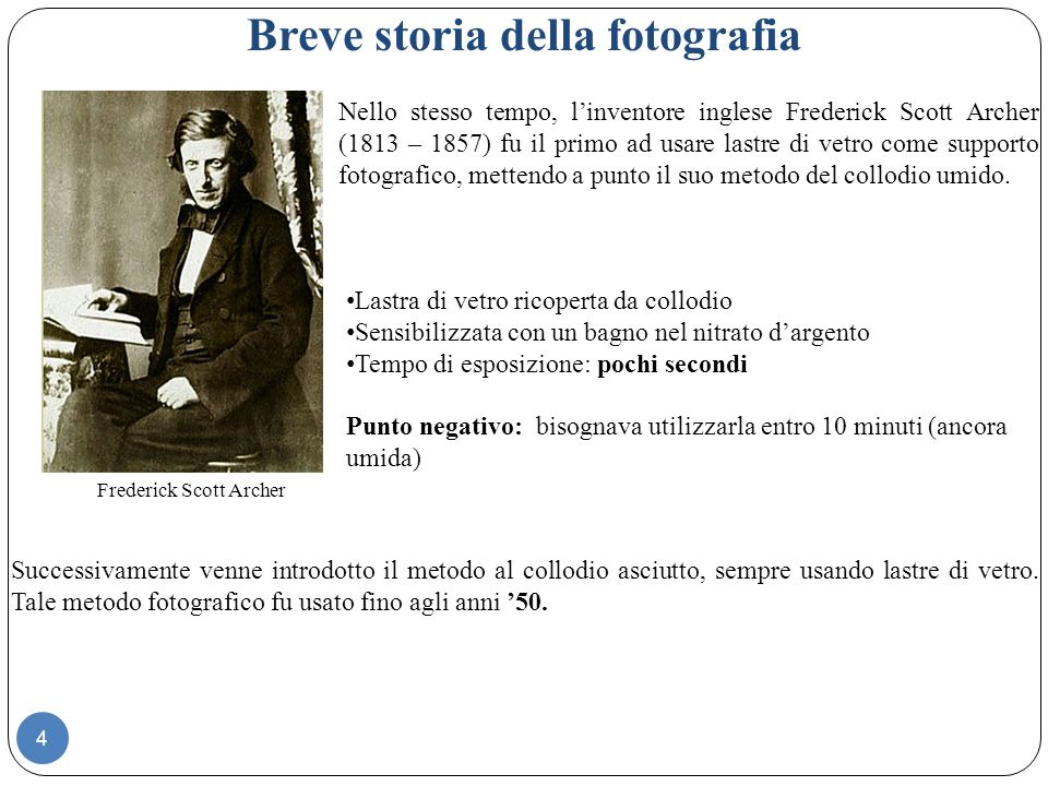 Utilizzo delle lastre di vetro fotografiche La fotografia iniziava a diventare popolare.