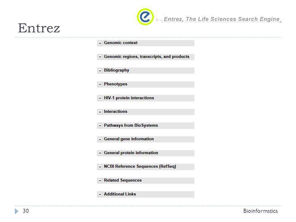 Entrez Bioinformatica30
