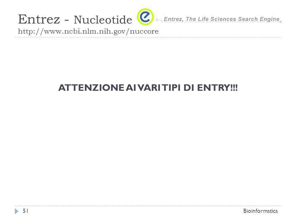 ATTENZIONE AI VARI TIPI DI ENTRY!!.
