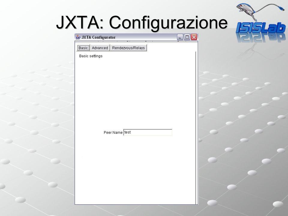 JXTA: Configurazione