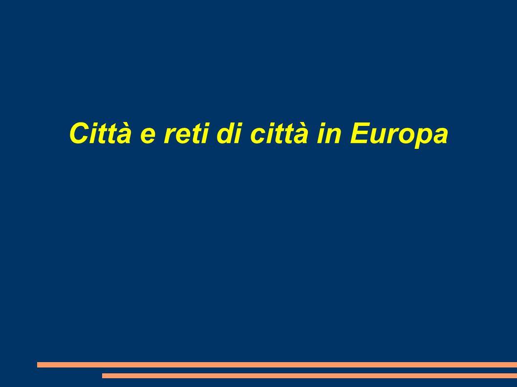 La periferia europea, invece, rimane caratterizzata da: Un sistema urbano di tipo christalleriano Scarsa accessibilità Collegamenti indiretti con i centri del cuore europeo