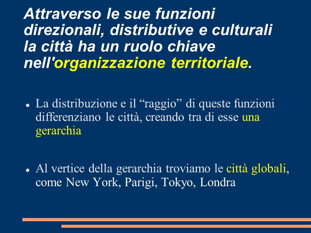 Attraverso le sue funzioni direzionali, distributive e culturali la città ha un ruolo chiave nell'organizzazione territoriale. La distribuzione e il r