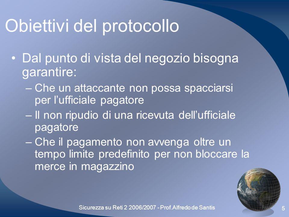 Sicurezza su Reti 2 2006/2007 - Prof.Alfredo de Santis 16 Outline Processo decisionale Presentazione del protocollo Sicurezza del protocollo Difficoltà riscontrate Future espansioni Conclusioni finali