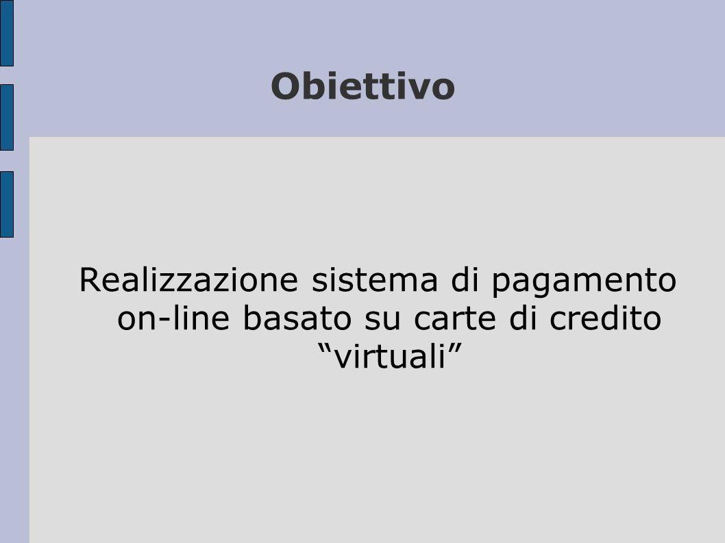 Obiettivo Realizzazione sistema di pagamento on-line basato su carte di credito virtuali