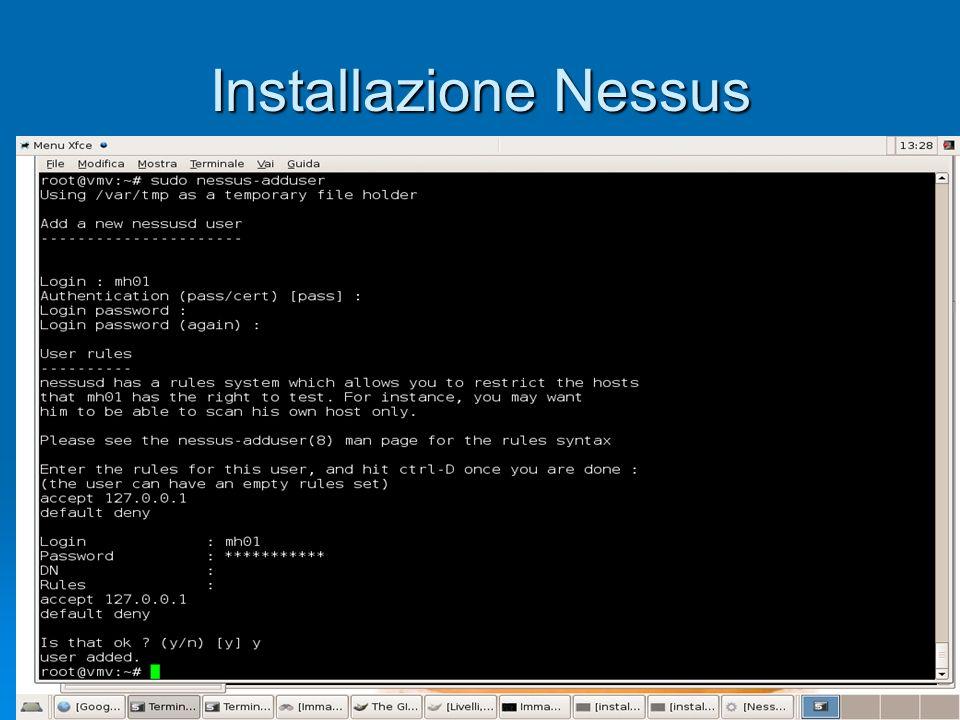 Start up Nessus