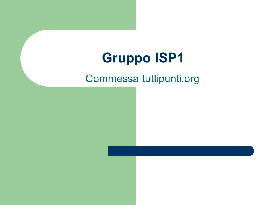 Gruppo ISP1 Commessa tuttipunti.org