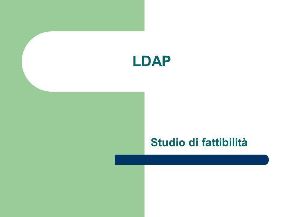 Configurazioni di directory LDAP - 6 Servizio di directory locale distribuito – In questa configurazione, il servizio globale è partizionato in servizi più piccoli ognuno dei quali può essere replicato e unito a riferimenti superiori e subordinati.