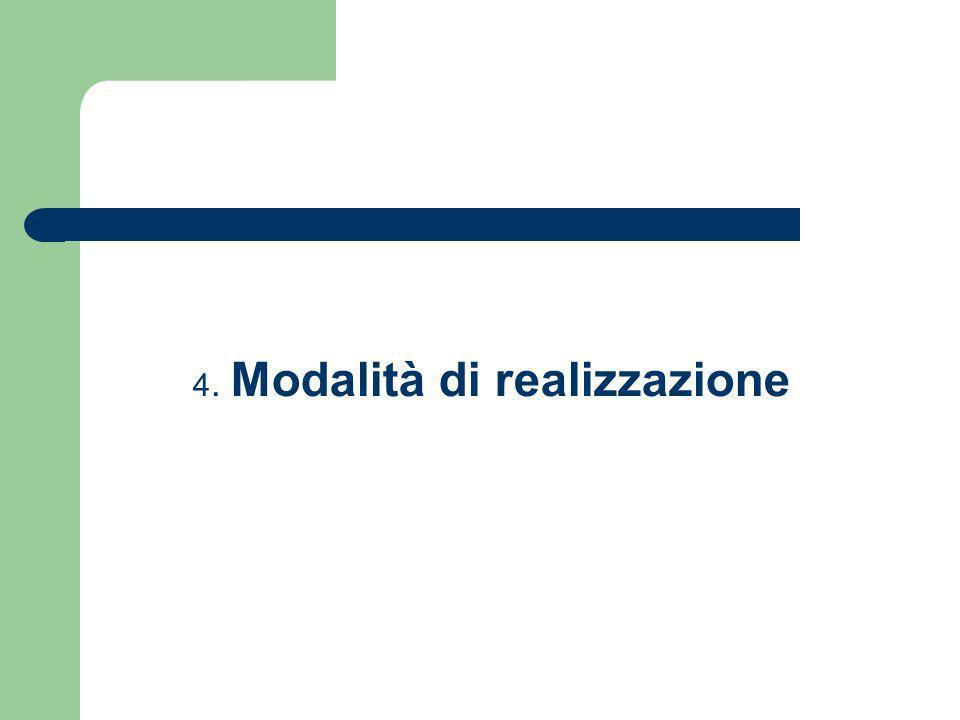 4. Modalità di realizzazione
