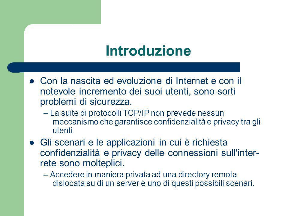 Funzionamento di LDAP -2 Il client si connette al server e gli chiede informazioni.